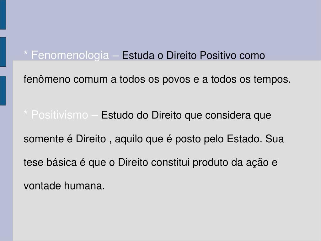 * Fenomenologia –