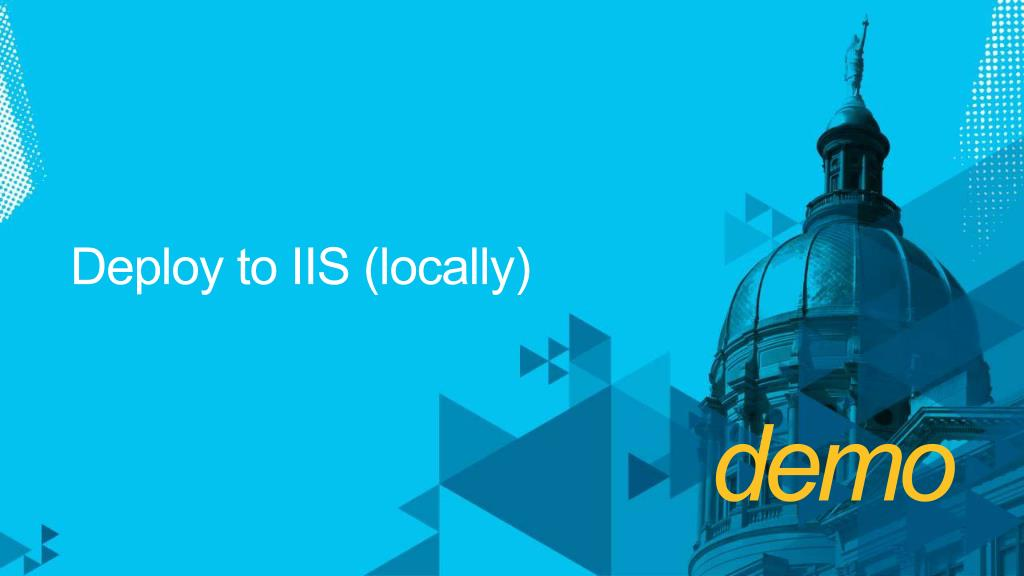 Deploy to IIS (locally)