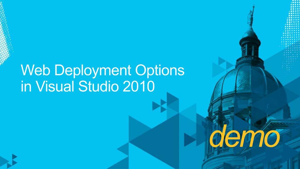Web Deployment Options
