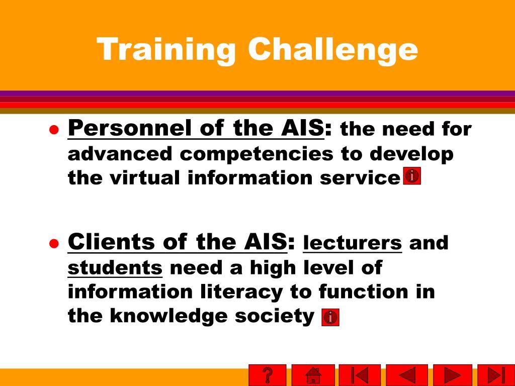 Training Challenge