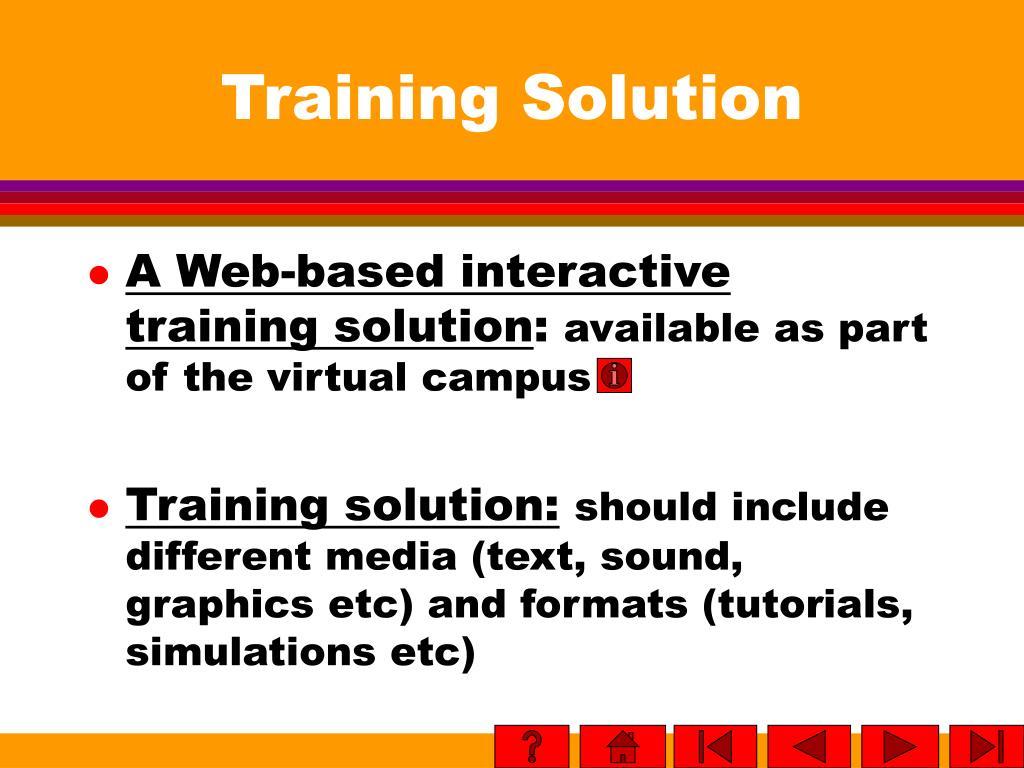 Training Solution