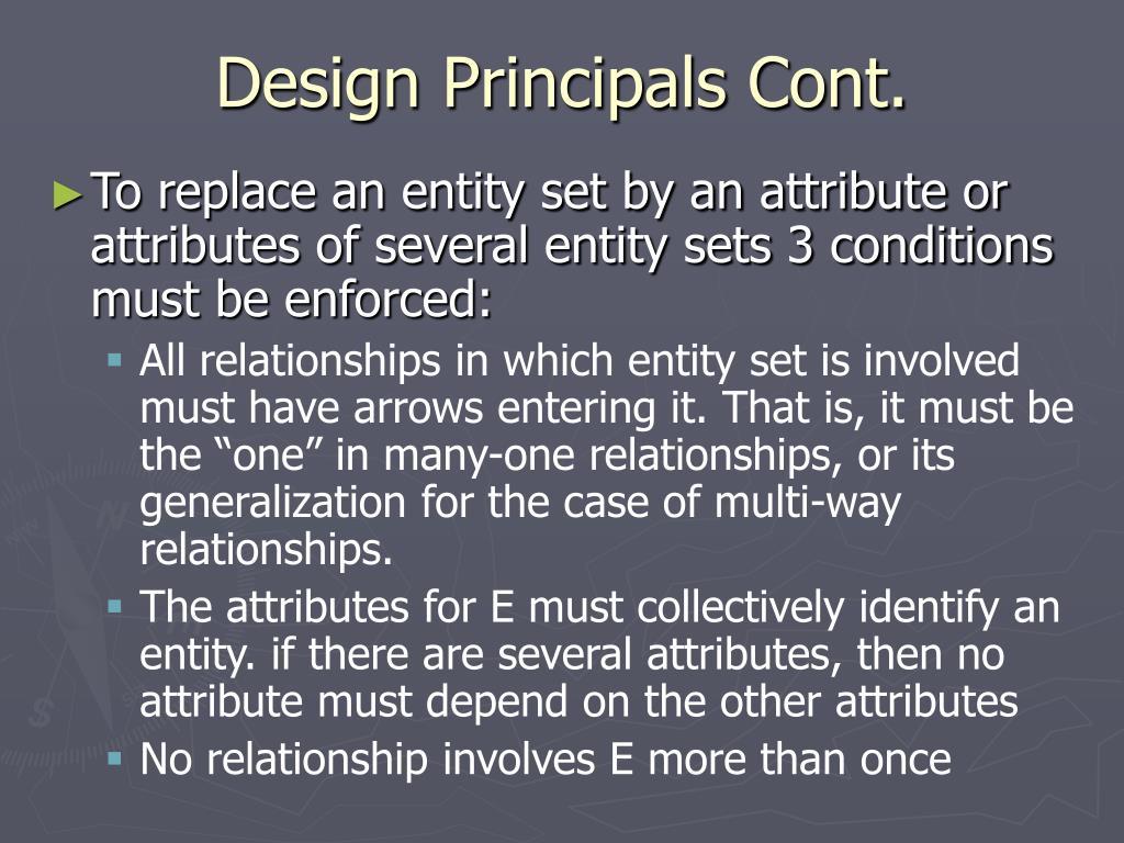 Design Principals Cont.