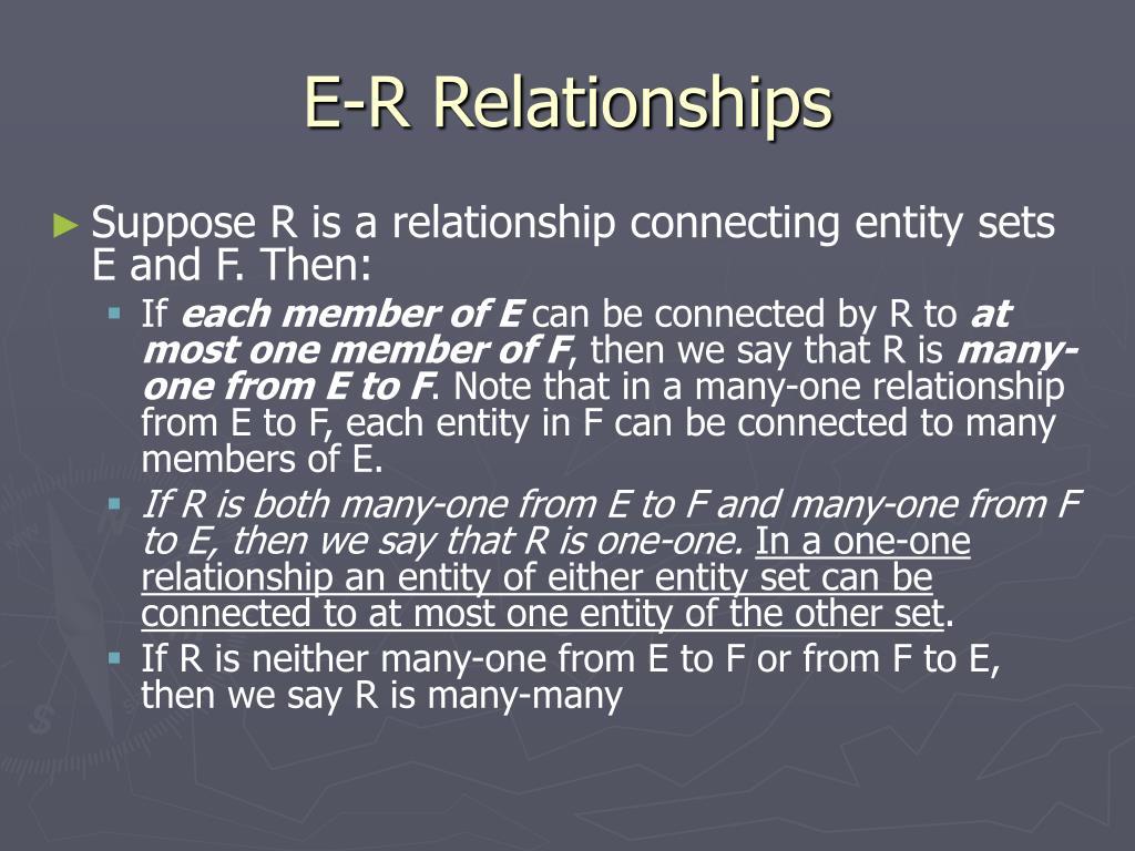 E-R Relationships
