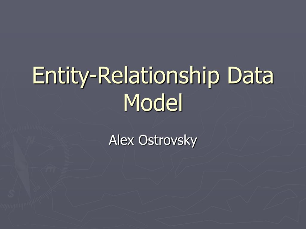 Entity-Relationship Data Model
