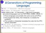 5 generations of programming languages24