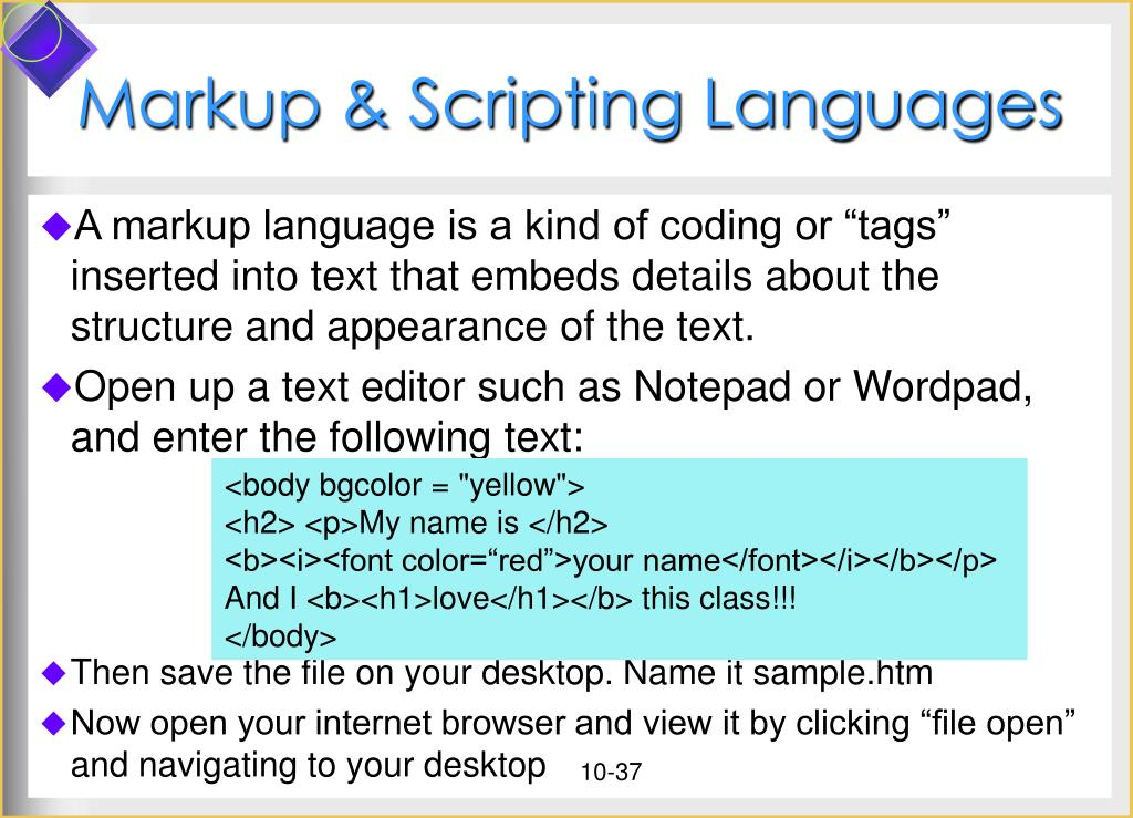 Markup & Scripting Languages