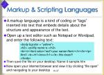 markup scripting languages