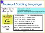 markup scripting languages38