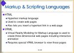 markup scripting languages39