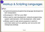 markup scripting languages42