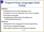 programming languages used today28