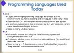 programming languages used today30