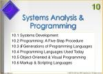 systems analysis programming