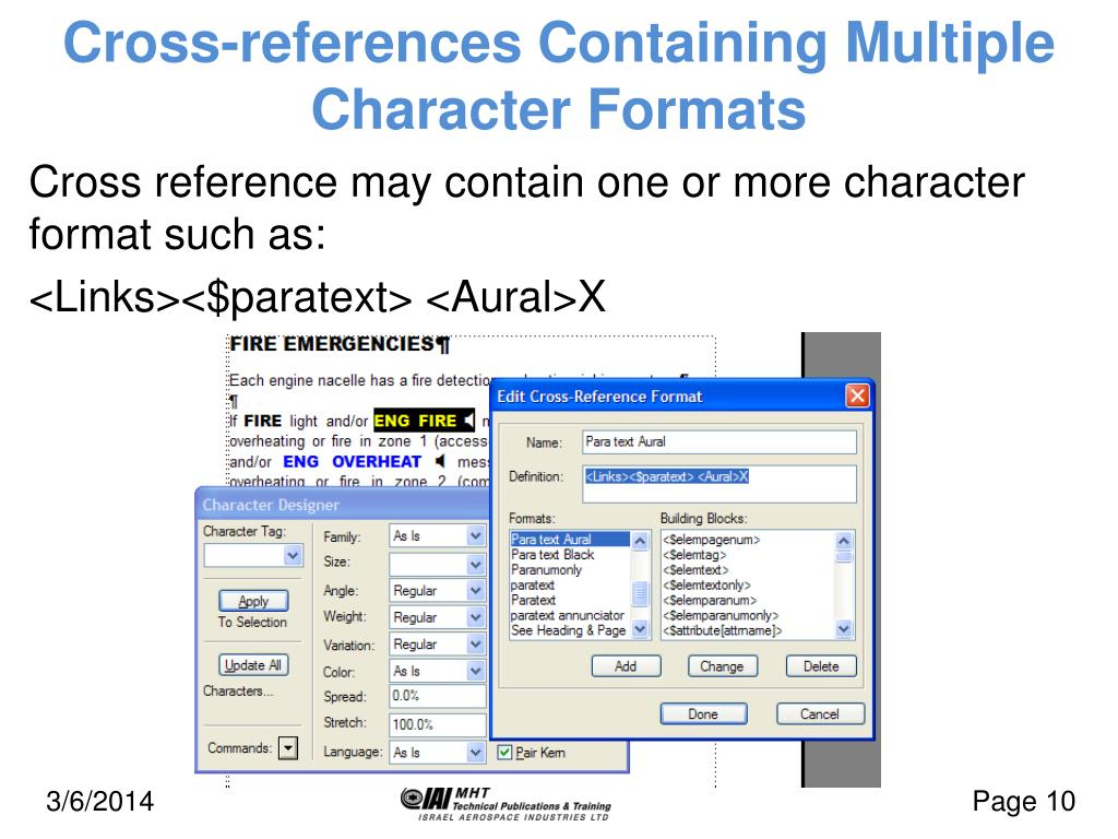 Cross-references Containing Multiple Character Formats