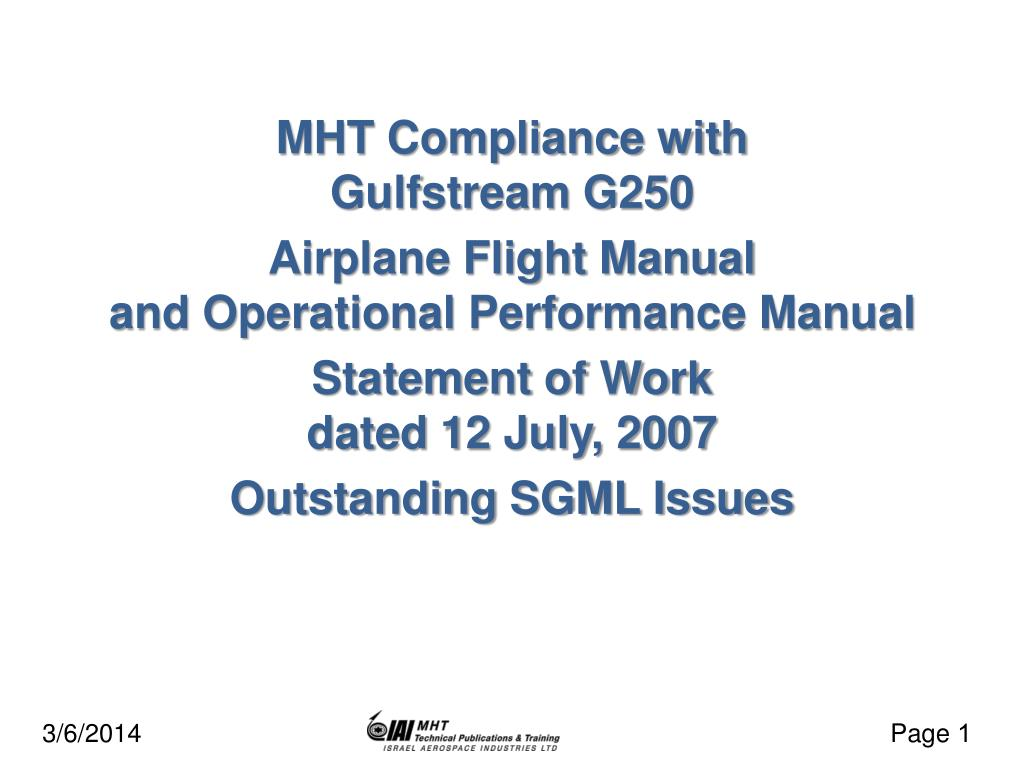 MHT Compliance with