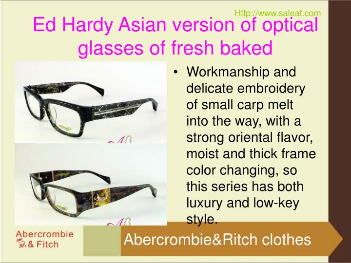 Ed hardy asian version of optical glasses of fresh baked