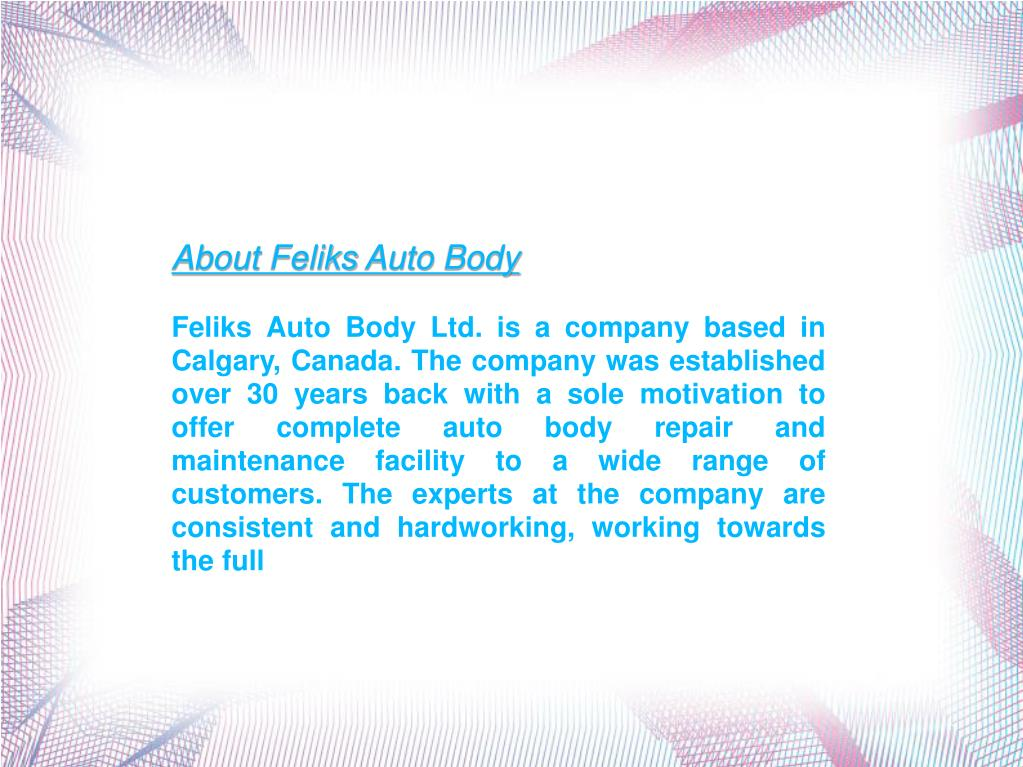 About Feliks Auto Body