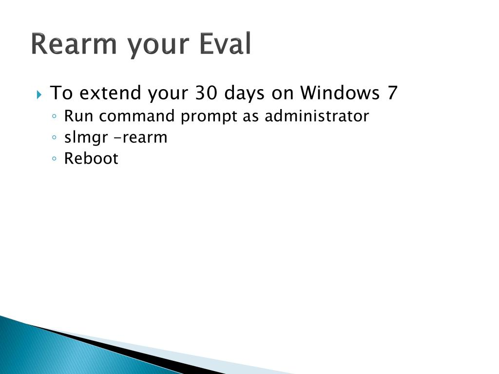 Rearm your Eval