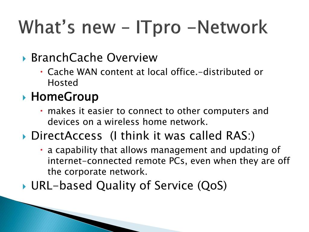 What's new – ITpro -Network