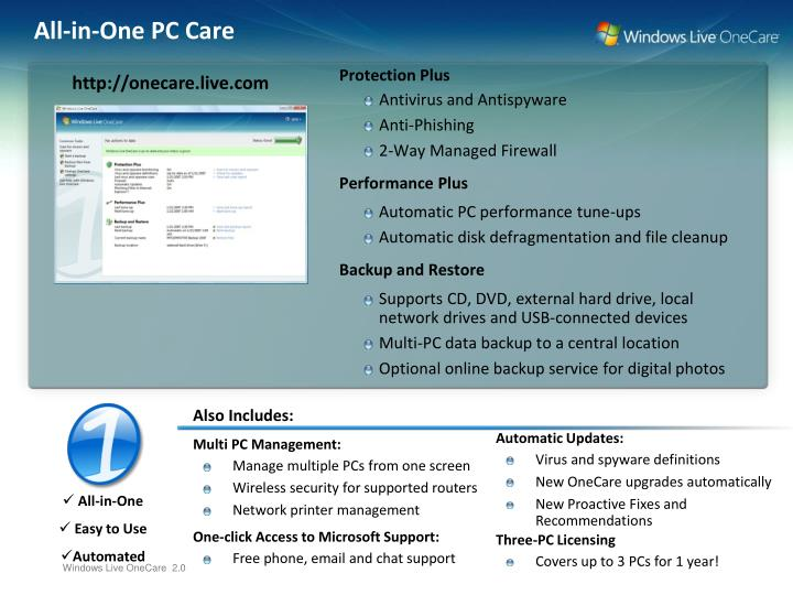 All in one pc care