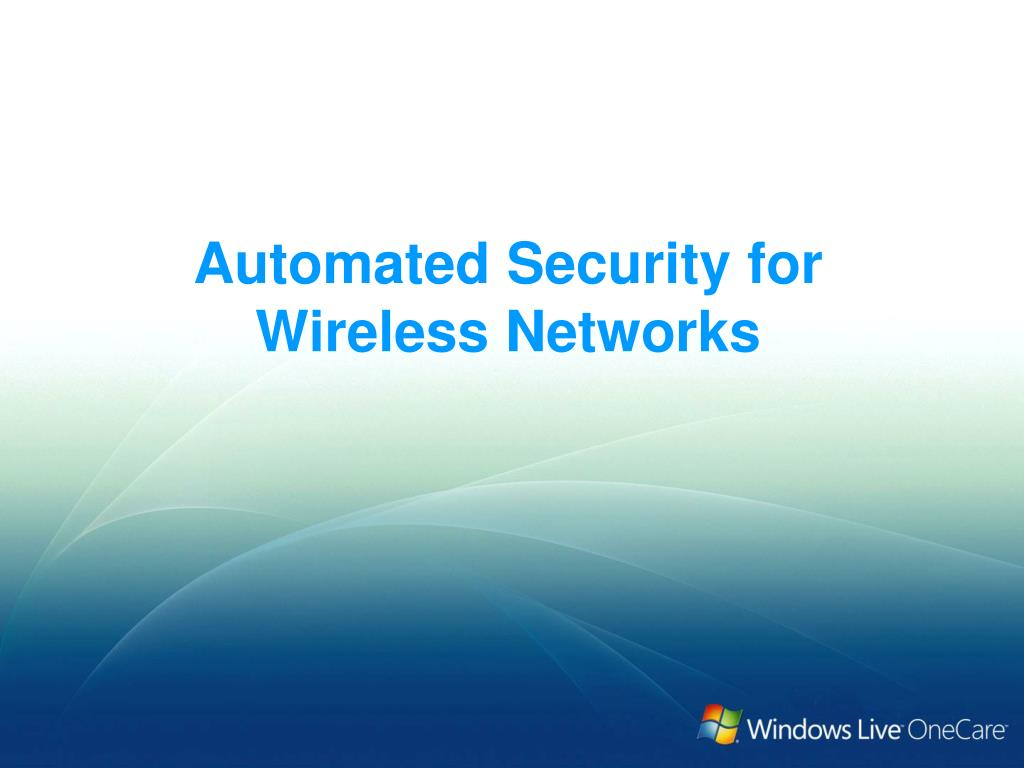 Automated Security for Wireless Networks