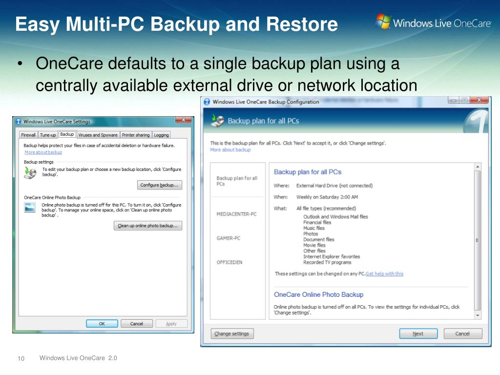 Easy Multi-PC Backup and Restore