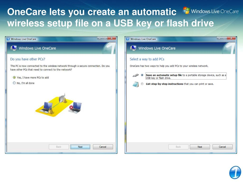 OneCare lets you create an automatic