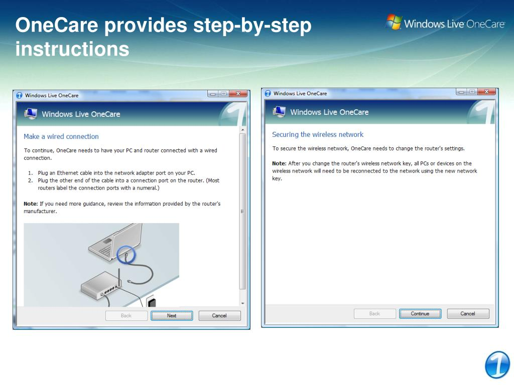 OneCare provides step-by-step
