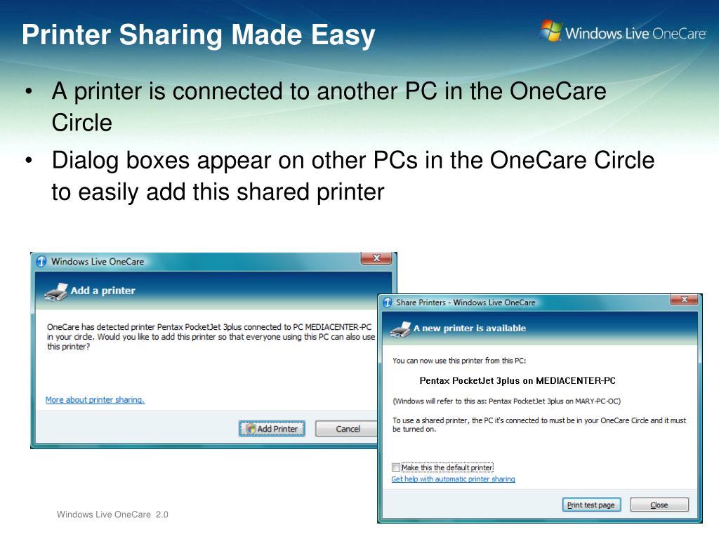 Printer Sharing Made Easy
