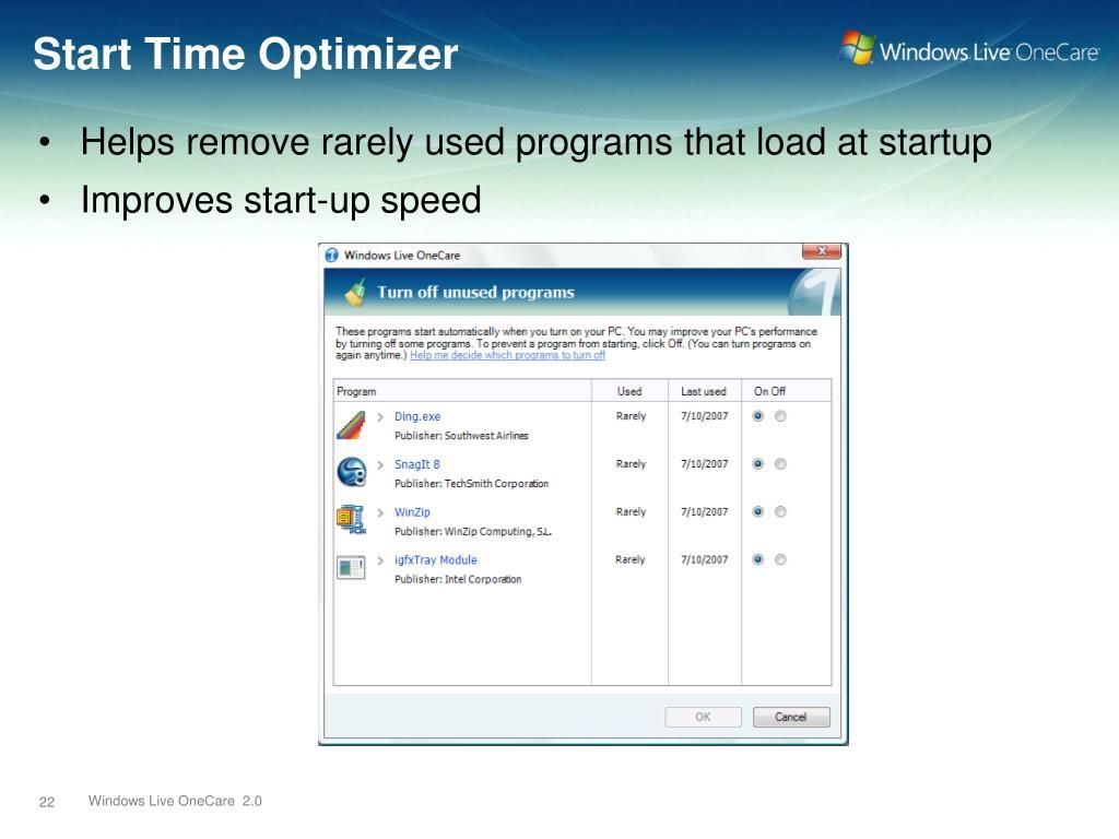 Start Time Optimizer
