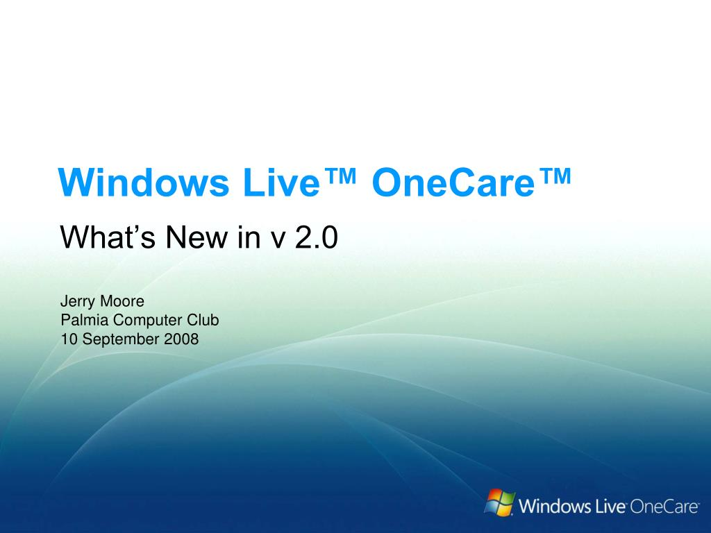 Windows Live™ OneCare™