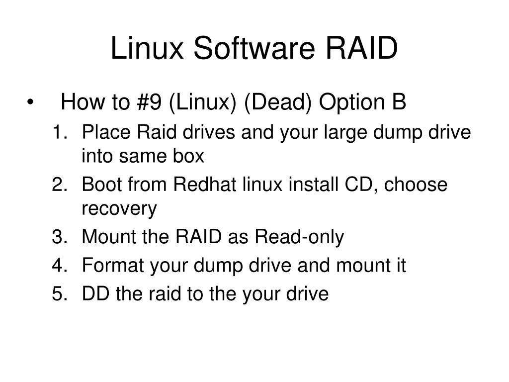 Linux Software RAID