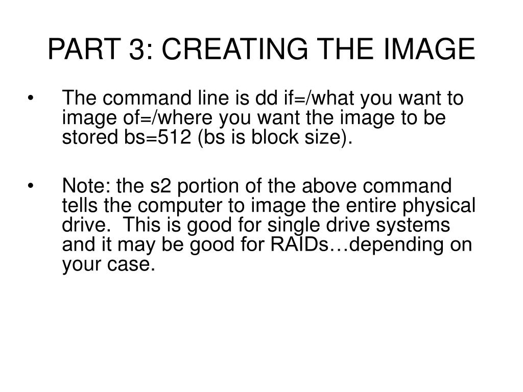PART 3: CREATING THE IMAGE