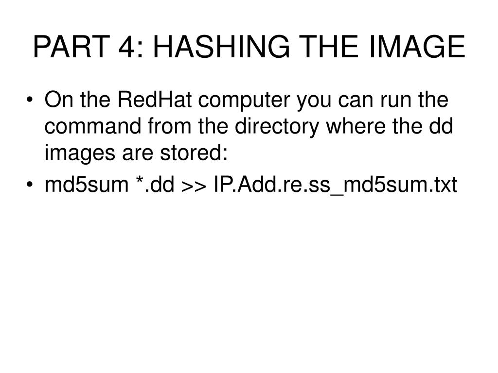 PART 4: HASHING THE IMAGE