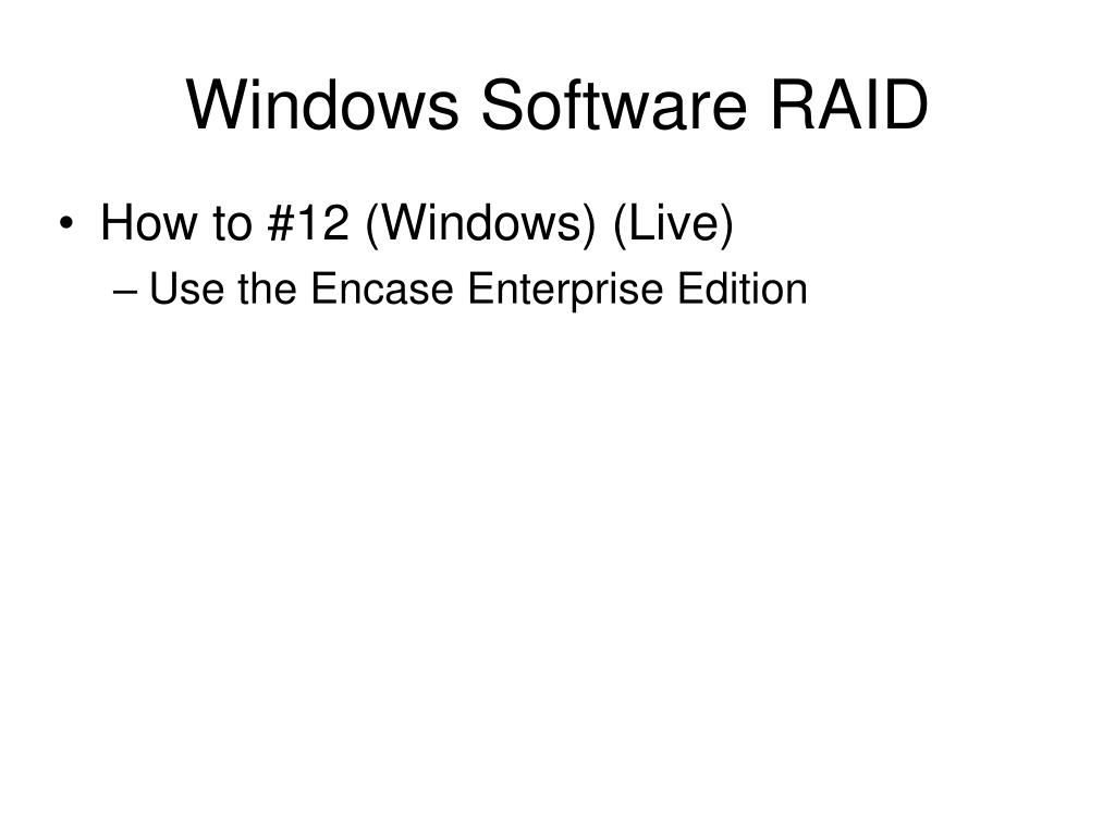 Windows Software RAID