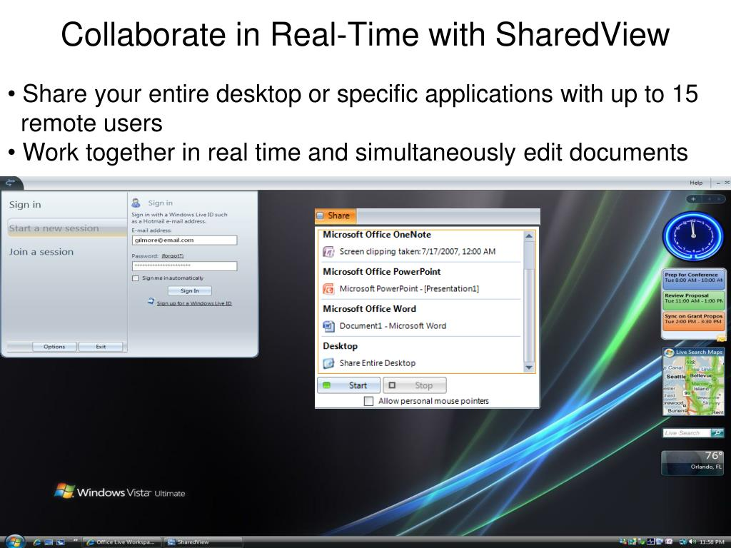 Collaborate in Real-Time with SharedView