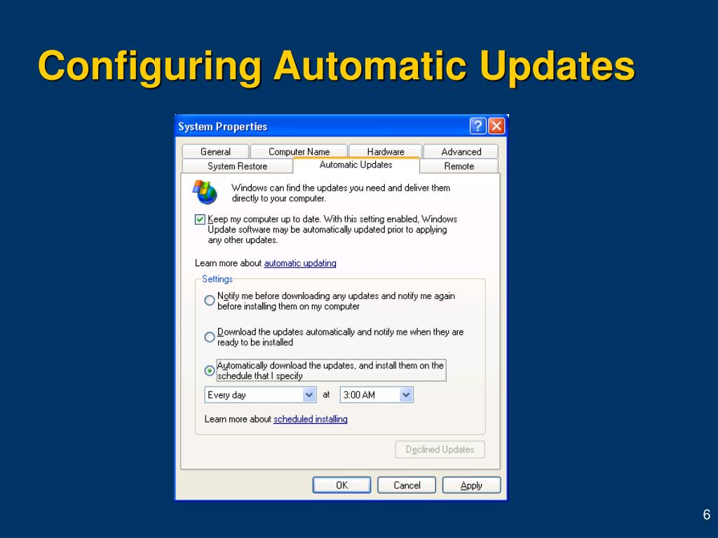 Configuring Automatic Updates