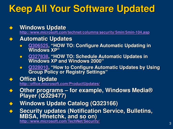 Keep all your software updated l.jpg
