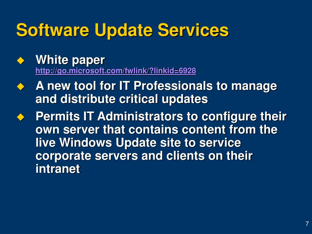 Software Update Services