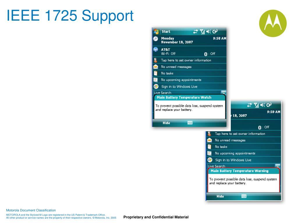 IEEE 1725 Support