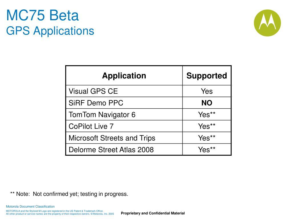 MC75 Beta