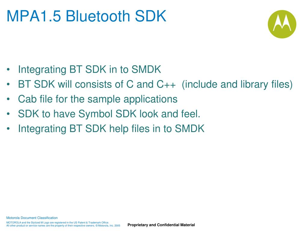 MPA1.5 Bluetooth SDK