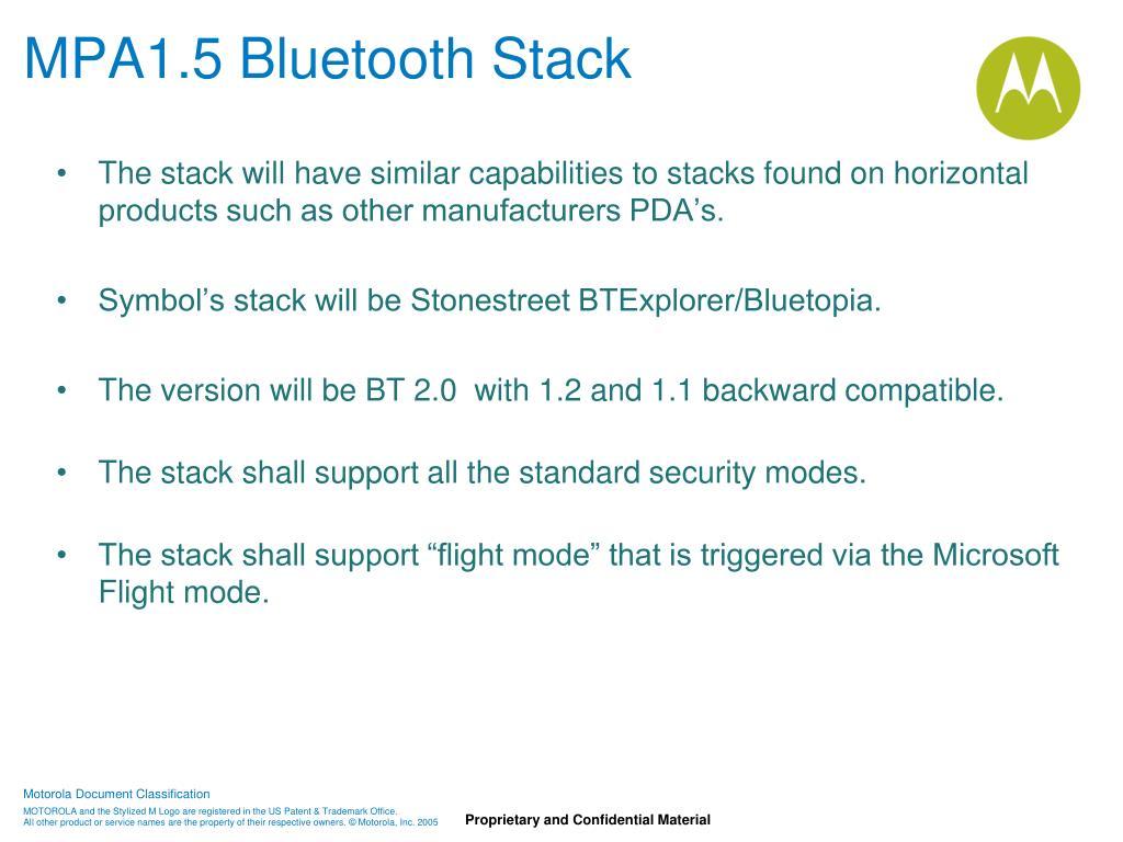 MPA1.5 Bluetooth Stack