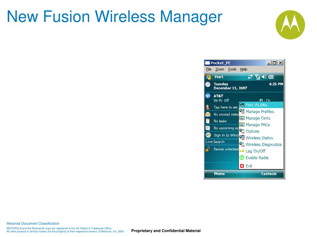 New Fusion Wireless Manager