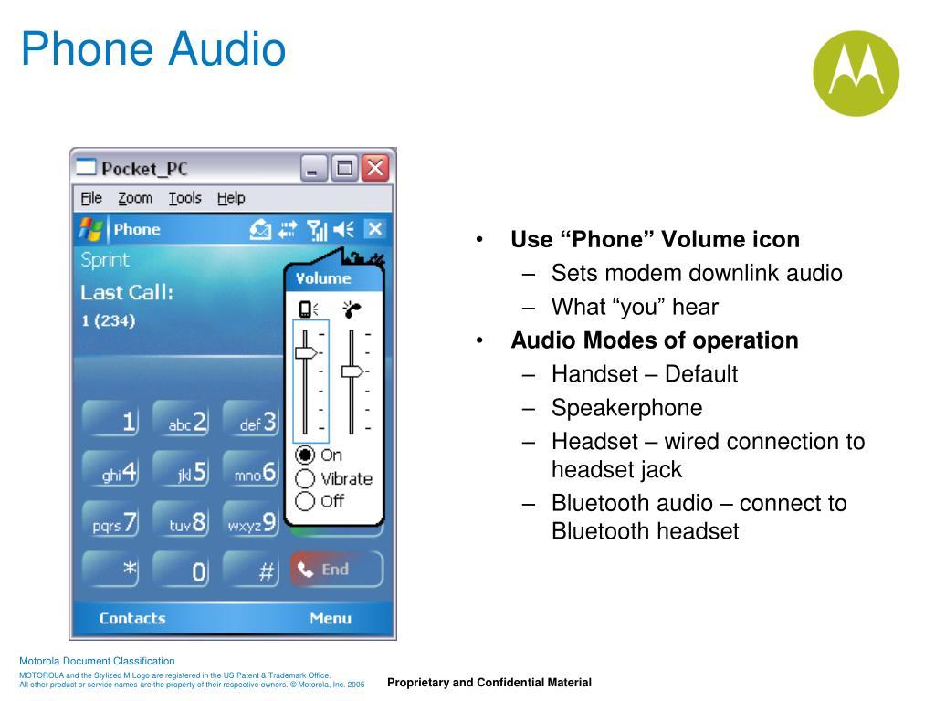 Phone Audio