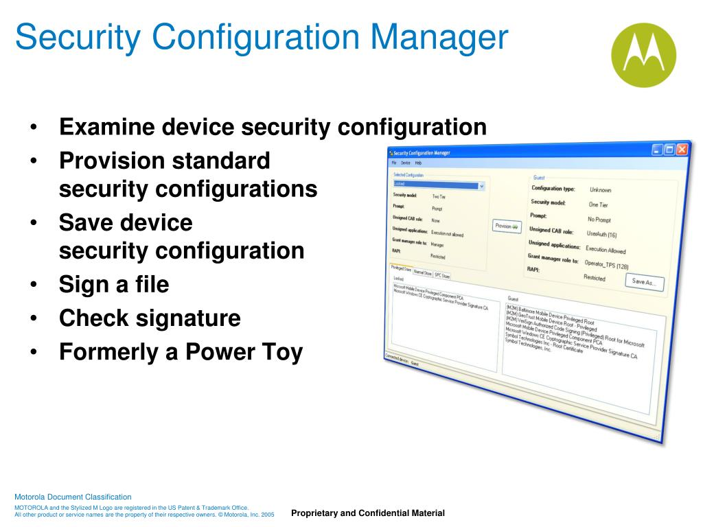 Security Configuration Manager