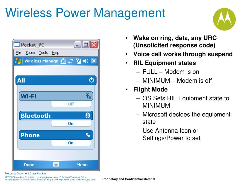 Wireless Power Management