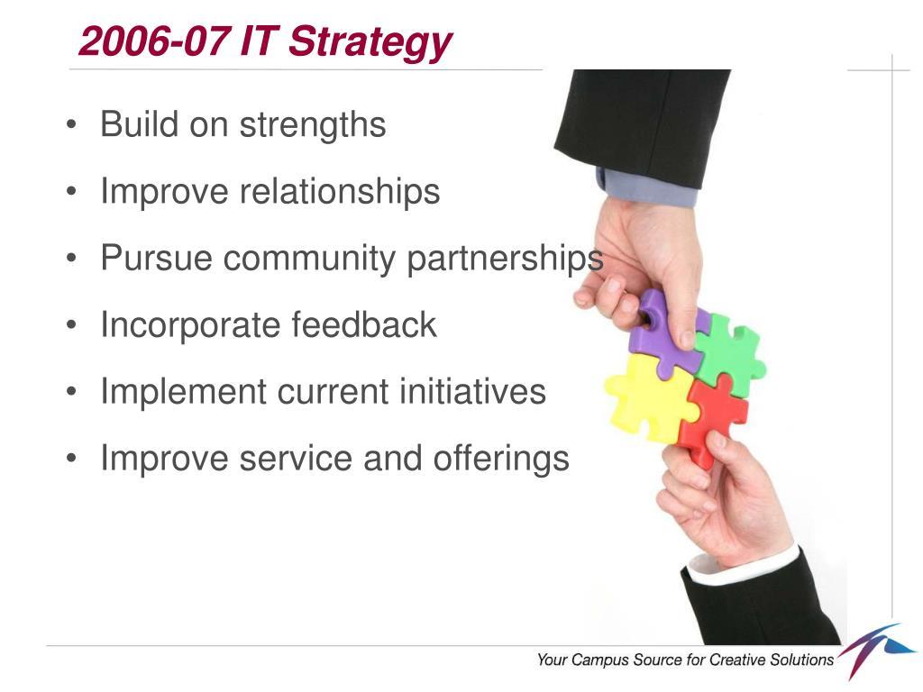 2006-07 IT Strategy