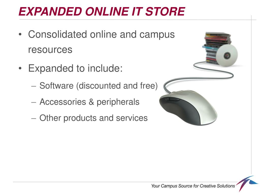 EXPANDED ONLINE IT STORE