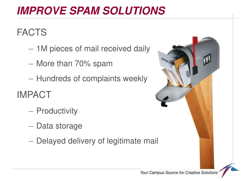 IMPROVE SPAM SOLUTIONS
